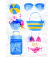 Watercolor summer vector image vector image
