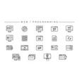 web and programming concept line style vector image