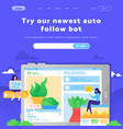 web site design template digital marketing vector image
