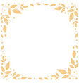 white background with orange leaves in circle vector image