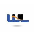 WL initial company group logo vector image vector image