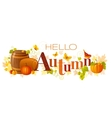 word autumn vector image