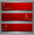 year rat set banners for 2020 chinese vector image vector image