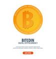 bitcoin digital cryptocurrency mining farm vector image