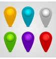 Set of round glossy map pointers vector image