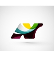 Abstract geometric company logo N letter vector image vector image
