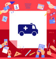 ambulance symbol icon vector image