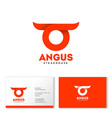 angus logo abstract bull head horns vector image