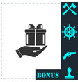 arm of gift icon flat vector image vector image