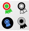 award seal eps icon with contour version vector image vector image