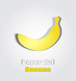 banana in papercut style paper cut poster vector image vector image