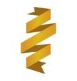 banner ribbon yellow graphic vector image vector image