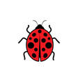 beauty bug icon vector image vector image