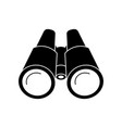 binoculars black of icon vector image