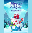 bright greeting card merry vector image