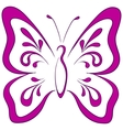 butterfly pictograph vector image