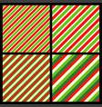 candy cane stripes diagonal pattern set popular vector image vector image
