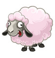 cartoon furry crazy little sheep screaming fun vector image vector image