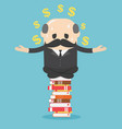 chief businessman meditation to calm his mind but vector image