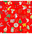 christmas pattern wallpaper vector image vector image