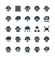 Cloud Computing Cool Icons 2 vector image vector image