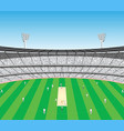 cricket sports stadium vector image vector image