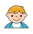 cute boy baby avatar character vector image