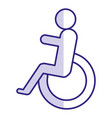 disable person sign icon vector image vector image