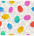 easter seamless pattern with eggs and spring vector image vector image