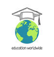 education worldwide vector image