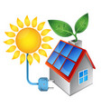 electricity from solar energy vector image vector image