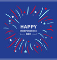 fireworks night sky happy independence day united vector image