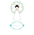 first communion celebration reminder cute girl vector image
