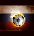 flag of russia with soccer ball vector image