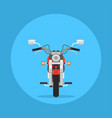 flat style motorbike picture vector image
