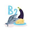 food with vitamin b2 riboflavin sea fish fresh vector image