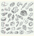 freehand drawing high-calorie food vector image vector image