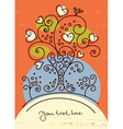 funky love tree vector image