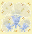 graphics abstract blue flowers vector image vector image