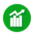 growth bar chart icon vector image vector image