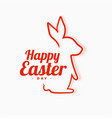 happy easter background with rabbit line vector image