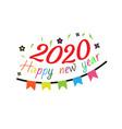 happy new year 2020 logo text design concept vector image vector image