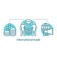 international trade concept icon vector image vector image