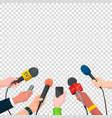 journalism concept in cartoon vector image