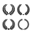 Laurel Wreaths Set vector image vector image