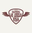 los angeles california athletic apparel logo vector image vector image