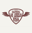los angeles california athletic apparel logo with vector image vector image