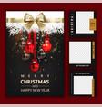 Luxury christmas social media golden and black