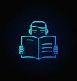man reading a book icon vector image vector image