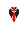 man tie logo design template vector image vector image